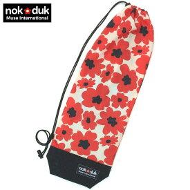 nokduk バドミントンラケットケース バドミントンラケット カバー ファンシーシリーズ フラワー赤 スマートでコンパクト(2本可)バドミントンラケット バッグ ショルダー