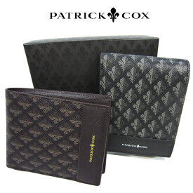 【正規品】patrick cox / パトリックコックス ブランド 二つ折り財布 メゾンシリーズ 本革 メンズ財布  pxmw6ds2 【RCP】 【コンビニ受取対応商品】