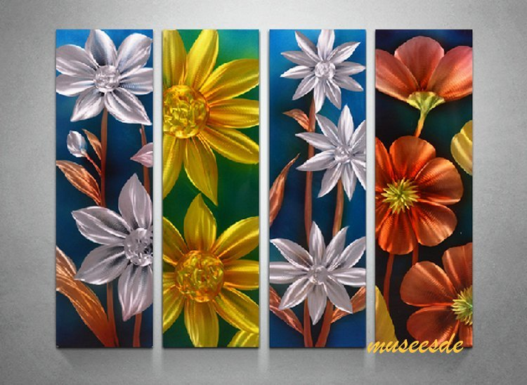 Good Modern Art Decor Art Wall (metal Abstract Art And Modern Sculptures, Office  Store Decorations, Art Panels) Of Modern Metal Art, Stylish Interior 4  Panel SET ...