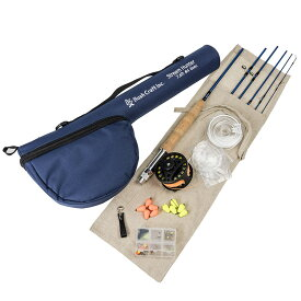 Bush Craft inc. フライフィッシング・スターティングセット764-6 (4573350728833)ブッシュクラフト プレゼント フライフィッシング パックロッド 釣りキャンプ 渓流釣り 管釣り 初心者 中級者向け