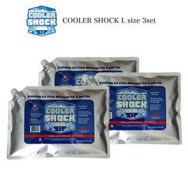 (期間限定ポイント10倍)COOLER SHOCK Lサイズ 3個セット (クーラーショック) 保冷剤 予冷時間:約12時間 繰り返し使用可 キャンプ アウトドア 釣り 中〜大型クーラーボックス用