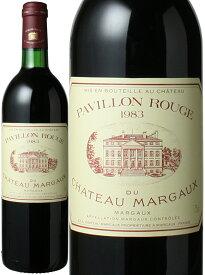 【送料無料】パヴィヨン・ルージュ・デュ・シャトー・マルゴー [1983] <赤> <ワイン/ボルドー>