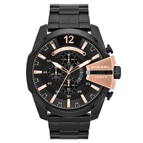 DIESEL ディーゼル メンズ 腕時計 時計 クロノグラフ MEGA CHIEF メガチーフ DZ4309 オールブラック【あす楽対応】【RCP】【プレゼント】【ブランド】【セール】