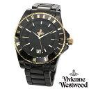 【送料無料】 ヴィヴィアンウエストウッド 時計 ヴィヴィアン 腕時計 Vivienne Westwood VV048GDBK ユニセックス メン…