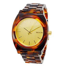 【送料無料】 NIXON ニクソン ユニセックス レディース メンズ 腕時計 TIME TELLER ACETATE タイムテラー アセテート A327-1424 A3271424 ゴールド/モラセス べっ甲柄 ベッコウ柄 時計【あす楽対応】【ブランド】