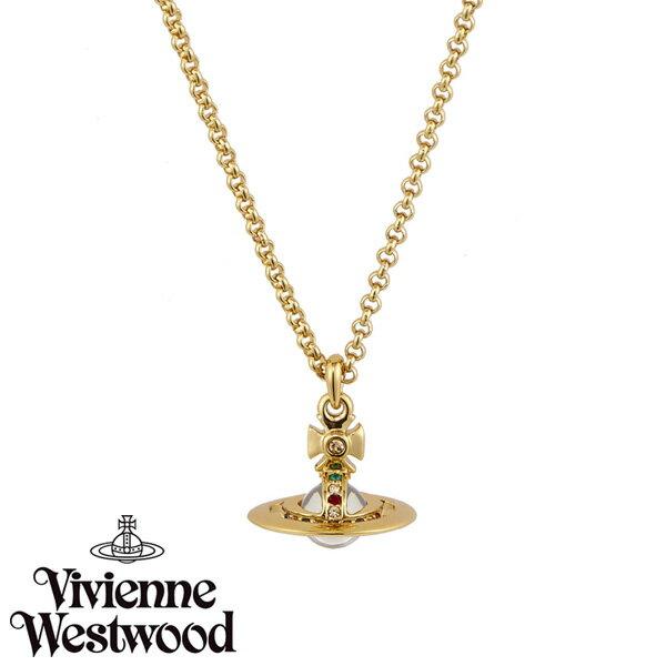 【送料無料】 ヴィヴィアン ウエストウッド ネックレス Vivienne Westwood ペンダント アクセサリー ビビアン NEW PETITE ORB PENDANT GOLD 752116B-2 752116B/2 ヴィヴィアン・ウエストウッド ビビアン 【あす楽対応】【RCP】【プレゼント】【ブランド】【セール】