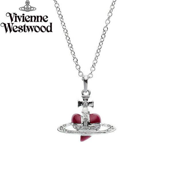 【送料無料】 ヴィヴィアン ウエストウッド ネックレス Vivienne Westwood アクセサリー ビビアン Diamante Heart Pendant Red 0668-01-15 ディアマンテ ハート ペンダント ビビアン 【あす楽対応】【RCP】【プレゼント】【ブランド】