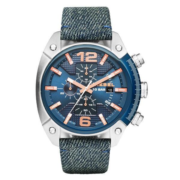【送料無料】 ディーゼル 時計 DIESEL 腕時計 DZ4374 メンズ クロノグラフ ネイビー×デニムベルト OVERFLOW オーバーフロー とけい ウォッチ 【あす楽対応】【RCP】【プレゼント】【セール】