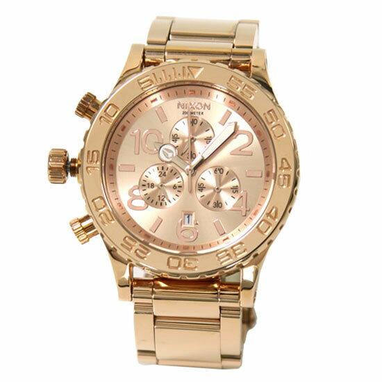 【超目玉】NIXON ニクソン ユニセックス 腕時計 THE 42-20 CHRONO クロノグラフ A037-897 A037897 ローズゴールド 時計 【あす楽対応】【送料無料】【RCP】【プレゼント】【大赤字特価セール】
