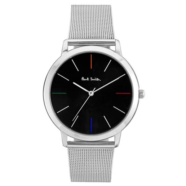 【超目玉】ポールスミス 時計 Paul Smith 腕時計 P10055 MA エムエー メンズ ウォッチ メッシュベルト ブラック×シルバー とけい【あす楽対応】【送料無料】【RCP】【プレゼント】【商品入れ替えのため大赤字特価】【セール】
