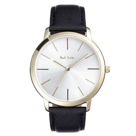 【超目玉】【送料無料】ポールスミス 時計 Paul Smith 腕時計 P10059 MA エムエー メンズ ウォッチ レザーベルト シルバー×ゴールド×ブラック とけい【あす楽対応】【RCP】【プレゼント】【セール】