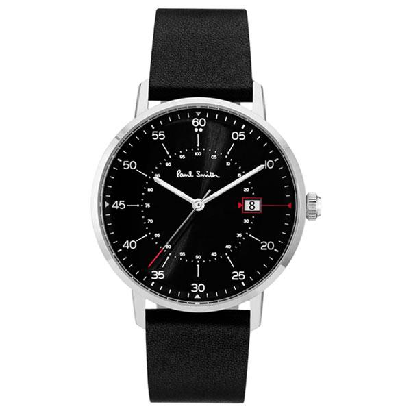 【超目玉】ポールスミス 時計 Paul Smith 腕時計 P10071 Gauge ゲージ メンズ ウォッチ ブラック×シルバー×ブラック とけい【あす楽対応】【送料無料】【RCP】【プレゼント】【商品入れ替えのため大赤字特価】【セール】