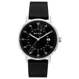 【送料無料】ポールスミス 時計 Paul Smith 腕時計 P10071 Gauge ゲージ メンズ ウォッチ ブラック×シルバー×ブラック とけい【あす楽対応】【RCP】【プレゼント】【商品入れ替えのため大赤字特価】【セール】