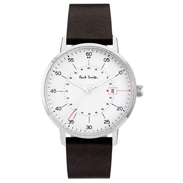 【超目玉】ポールスミス 時計 Paul Smith 腕時計 P10072 Gauge ゲージ メンズ ウォッチ ホワイト×シルバー×ブラック とけい【あす楽対応】【送料無料】【RCP】【プレゼント】【商品入れ替えのため大赤字特価】【セール】