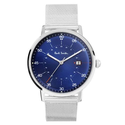 ポールスミス 時計 Paul Smith 腕時計 P10078 Gauge ゲージ メンズ ウォッチ ネイビー×シルバー/メッシュベルト とけい【送料無料】【あす楽対応】【RCP】【プレゼント】【ブランド】【商品入れ替えのため大赤字特価】【セール】