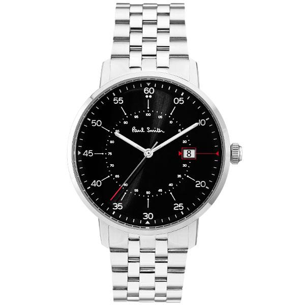 【送料無料】ポールスミス 時計 Paul Smith 腕時計 P10073 Gauge ゲージ メンズ ウォッチ ブラック×シルバー とけい【あす楽対応】【RCP】【プレゼント】【ブランド】【セール】