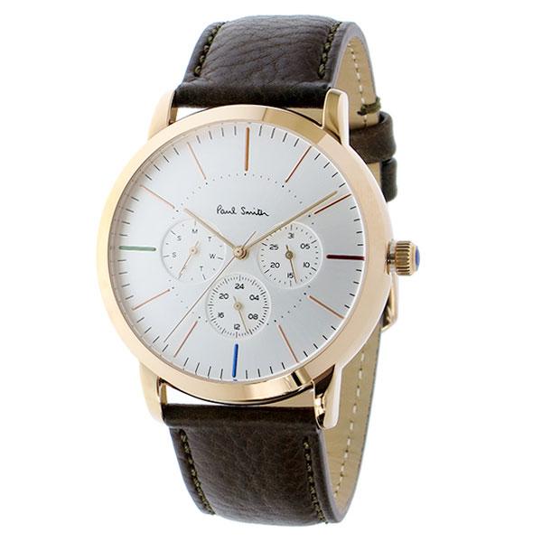 ポールスミス 時計 Paul Smith 腕時計 P10112 MA エムエー メンズ ウォッチ シルバー×ピンクゴールド×ブラウン とけい【送料無料】【あす楽対応】【RCP】【プレゼント】【商品入れ替えのため大赤字特価】【セール】