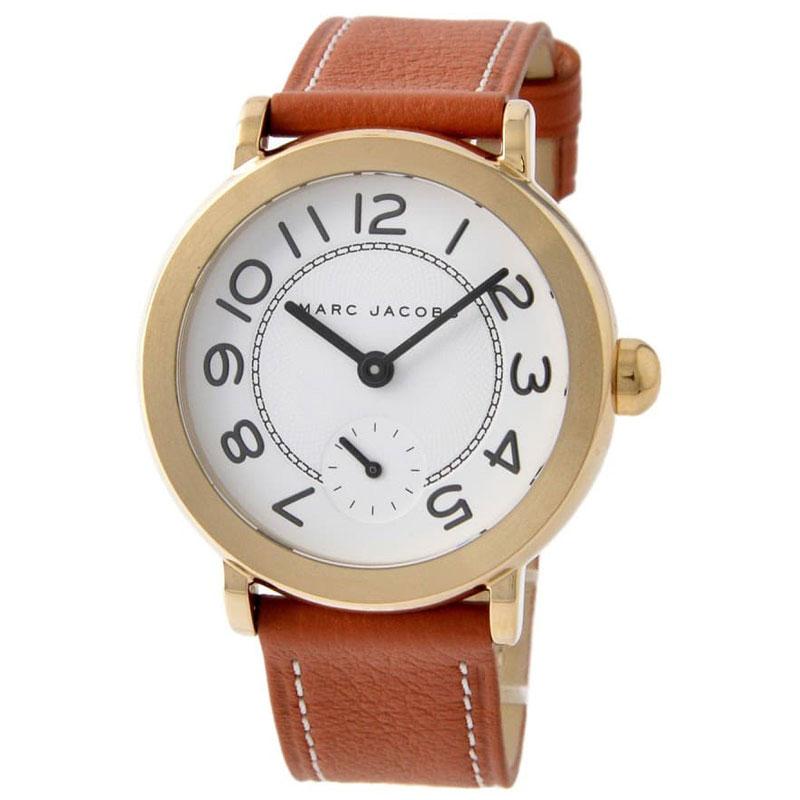 【送料無料】マークジェイコブス 時計 MARC JACOBS 腕時計 ユニセックス レディース MJ1574 時計 Riley ライリー ホワイト×ゴールド×ブラウン【あす楽対応】【RCP】【プレゼント】【ブランド】