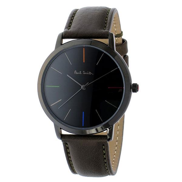 【送料無料】ポールスミス 時計 Paul Smith 腕時計 P10090 MA エムエー メンズ ウォッチ ブラック×ダークブラウン とけい【あす楽対応】【RCP】【プレゼント】【ブランド】【セール】