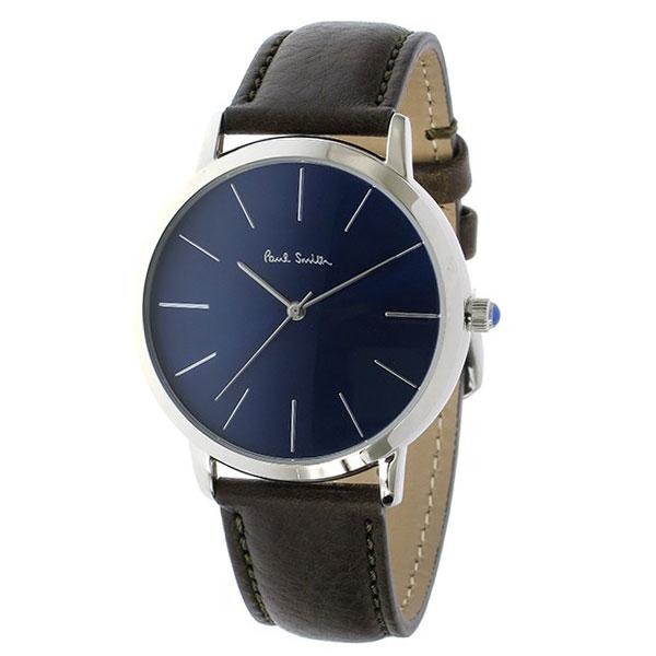 【送料無料】ポールスミス 時計 Paul Smith 腕時計 P10091 MA エムエー メンズ ウォッチ ネイビー×ダークブラウン とけい【あす楽対応】【RCP】【プレゼント】【ブランド】【セール】