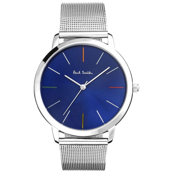 ポールスミス 時計 Paul Smith 腕時計 P10058 MA エムエー メンズ ウォッチ ブルー×シルバー メタルメッシュベルト とけい【送料無料】【あす楽対応】【RCP】【プレゼント】【ブランド】【セール】