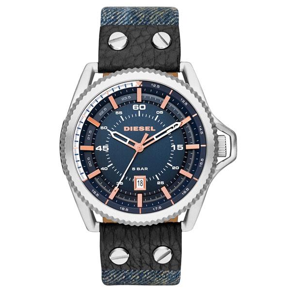 【送料無料】 ディーゼル 時計 DIESEL 腕時計 DZ1727 メンズ ネイビー×デニムベルト×ピンクゴールド ロールケージ ROLLCAGE とけい ウォッチ 【あす楽対応】【RCP】【プレゼント】【セール】