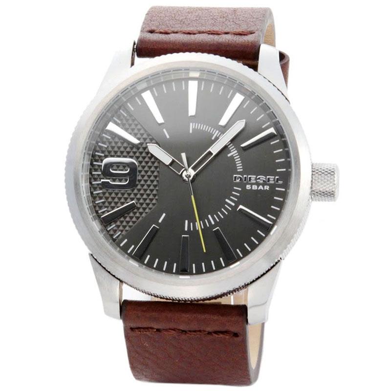 【送料無料】ディーゼル 時計 DIESEL 腕時計 DZ1802 メンズ グレー×シルバー×ダークブラウン ラスプ とけい ウォッチ 【あす楽対応】【RCP】【プレゼント】【セール】