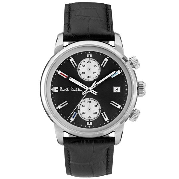 【送料無料】ポールスミス 時計 Paul Smith 腕時計 P10031 BLOCK CHRONO ブロックメンズ ウォッチ ブラック×ブラック とけい【あす楽対応】【RCP】【プレゼント】【ブランド】【セール】