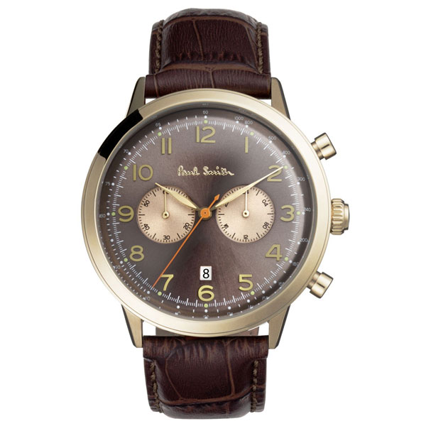【送料無料】ポールスミス 時計 Paul Smith 腕時計 P10014 メンズ クロノグラフ ウォッチ ブラウン×ゴールド×ブラウン とけい【あす楽対応】【RCP】【プレゼント】【ブランド】【セール】