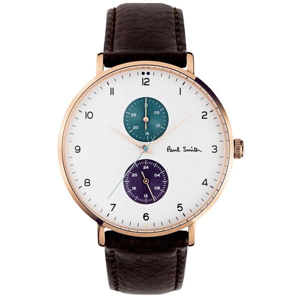 【送料無料】ポールスミス 時計 Paul Smith 腕時計 PS0070005 TRACK トラック メンズ ウォッチ ホワイト×ダークブラウン とけい【あす楽対応】【RCP】【プレゼント】【ブランド】【セール】