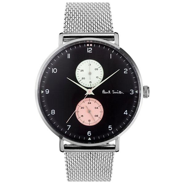 【送料無料】ポールスミス 時計 Paul Smith 腕時計 PS0070006 TRACK トラック メンズ ウォッチ ブラック×シルバー メッシュベルト とけい【あす楽対応】【RCP】【プレゼント】【ブランド】【セール】