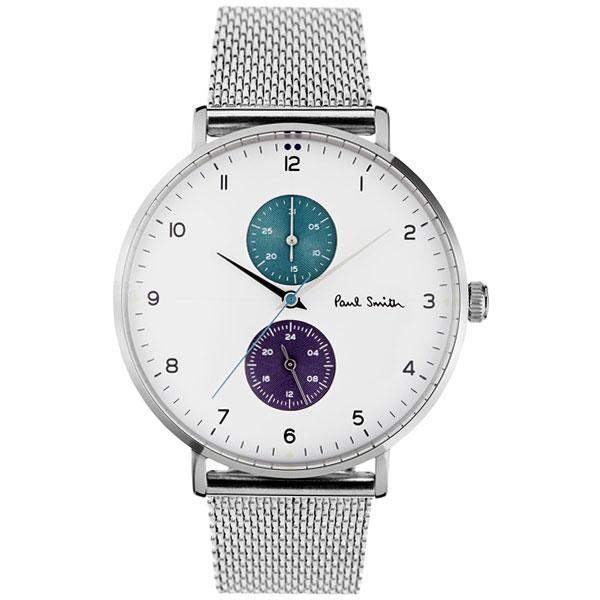 【送料無料】ポールスミス 時計 Paul Smith 腕時計 PS0070007 TRACK トラック メンズ ウォッチ ホワイト×シルバー メッシュベルト とけい【あす楽対応】【RCP】【プレゼント】【ブランド】【セール】