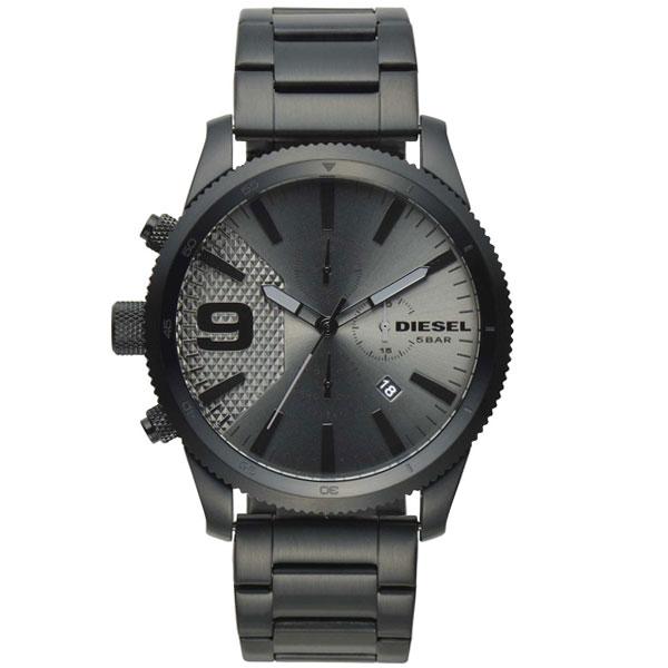 【送料無料】ディーゼル 時計 DIESEL 腕時計 DZ4453 メンズ RASP CHRONO ラスプ クロノグラフ ガンメタル×ブラック とけい ウォッチ 【あす楽対応】【RCP】【プレゼント】【ブランド】【セール】