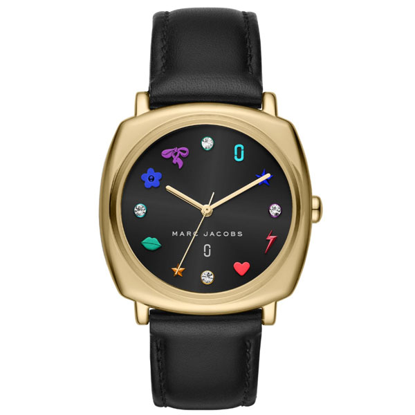 【送料無料】マークジェイコブス 時計 MARC JACOBS 腕時計 レディース MJ1597 Mandy 34 ブラック×ゴールド マルチカラーインデックス【あす楽対応】【RCP】【プレゼント】【ブランド】【セール】