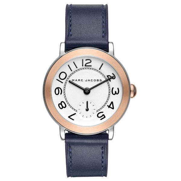 【送料無料】マークジェイコブス 時計 MARC JACOBS 腕時計 ユニセックス レディース MJ1602 時計 Riley 36 ライリー ホワイト×ネイビー×ローズゴールド【あす楽対応】【RCP】【プレゼント】【ブランド】
