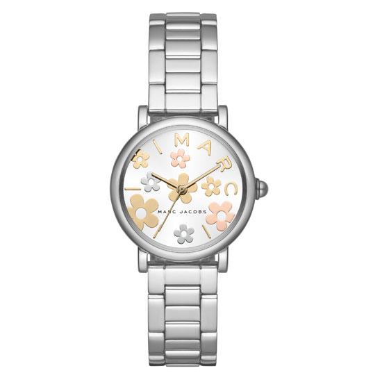 【送料無料】マークジェイコブス 時計 MARC JACOBS 腕時計 レディース MJ3581 Classic 28 ホワイト×シルバー×マルチカラー お花 花 フラワー【あす楽対応】【RCP】【プレゼント】【ブランド】【セール】