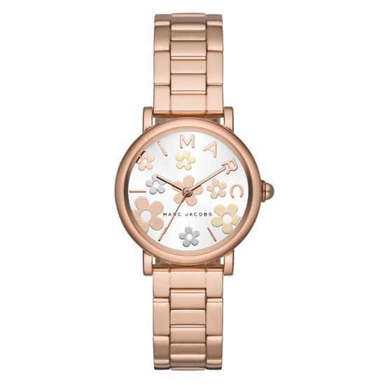 【送料無料】マークジェイコブス 時計 MARC JACOBS 腕時計 レディース MJ3582 Classic 28 ホワイト×ピンクゴールド×マルチカラー お花 花 フラワー【あす楽対応】【RCP】【プレゼント】【ブランド】【セール】