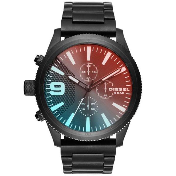 【送料無料】 ディーゼル 時計 DIESEL 腕時計 DZ4447 メンズ Rasp ラスプ クロノグラフ オールブラック ミラーガラス とけい ウォッチ 【あす楽対応】【RCP】【プレゼント】【ブランド】