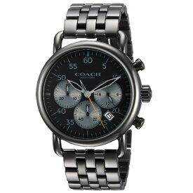 d81b390668e3 【送料無料】COACH コーチ メンズ 腕時計 時計 14602138 Delancey デランシー ブラック×ガンメタル こ