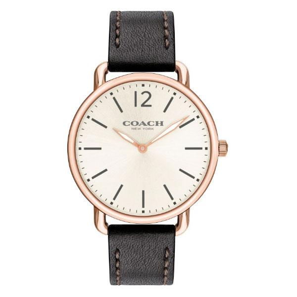 【送料無料】COACH コーチ メンズ 腕時計 時計 14602347 DELANCEY SLIM デランシースリム オフホワイトシルバー×ブラック×ピンクゴールド こーち とけい 【あす楽対応】【RCP】【プレゼント】【ブランド】【セール】