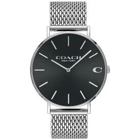【送料無料】COACH コーチ メンズ 腕時計 時計 14602144 Charles チャールズ シルバー×ブラック メッシュベルト こーち 【あす楽対応】【RCP】【プレゼント】【ブランド】【ラッキーシール対応】【セール】