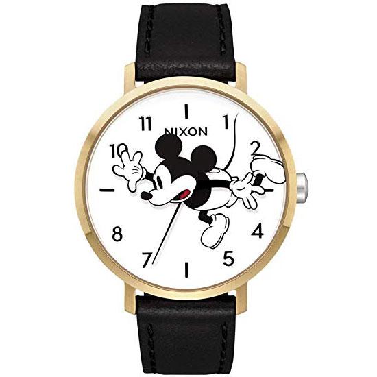 【送料無料】NIXON ニクソン Disney ディズニー コラボ ミッキーマウス ユニセックス レディース メンズ 腕時計 時計 THE ARROW LEATHER A10913095 GOLD/BLACK/MICKEY【あす楽対応】【プレゼント】【ブランド】【セール】【ラッキーシール対応】
