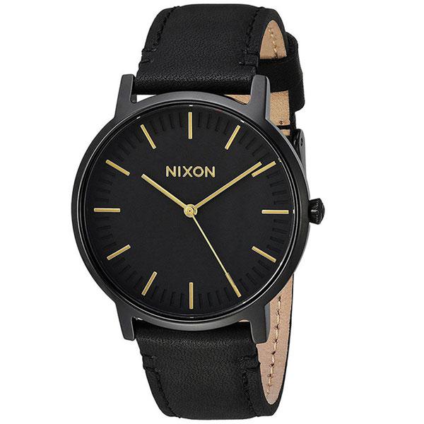 【送料無料】NIXON ニクソン メンズ 腕時計 時計 THE PORTER LEATHER ポーターレザー A10581031 ALL BLACK / GOLD【あす楽対応】【プレゼント】【ブランド】【ラッキーシール対応】【セール】