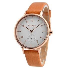 【送料無料】SKAGEN スカーゲン レディース 腕時計 SKW2405 ANITA アニタ 時計 女性用 ホワイト×ライトブラウン【あす楽対応】【RCP】【プレゼント】【ブランド】【ラッキーシール対応】【セール】