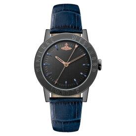 【送料無料】Vivienne Westwood ヴィヴィアン ウエストウッド レディース 腕時計 時計 VV213BKBL Warwick ワーウィック ブラック×ネイビー とけい ビビアン【RCP】【プレゼント】【ブランド】【ラッキーシール対応】【セール】