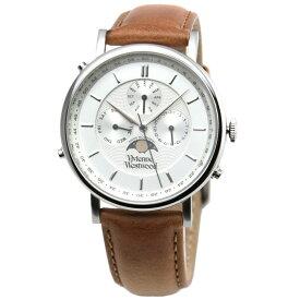 【送料無料】Vivienne Westwood ヴィヴィアン ウエストウッド メンズ 腕時計 時計 ビビアン VV164SLTN Portland ポートランド シルバー×ライトブラウン ヴィヴィアン・ウエストウッド【あす楽対応】【プレゼント】【ブランド】【ラッキーシール対応】【セール】