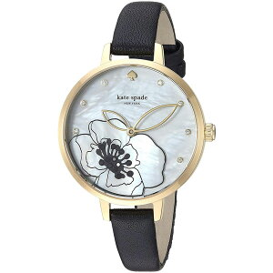 【送料無料】ケイトスペード 腕時計 レディース 時計 kate spade KSW1480 METRO メトロ 女性用 花柄 フラワー マザーオブパール ホワイト×ゴールド×ブラック【あす楽対応】【ブランド】【プレゼント】【セール】