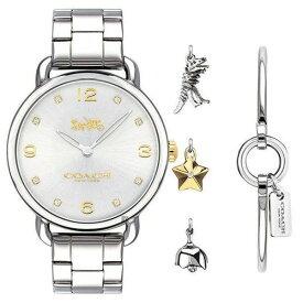 【送料無料】COACH コーチ レディース 腕時計 時計 ブレスレットセット バングル 14000056 Delancey デランシー チャーム付 シルバー×シルバー こーち とけい 【RCP】【プレゼント】【ブランド】【ラッキーシール対応】