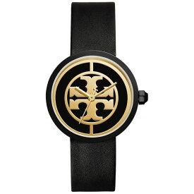 【送料無料】TORY BURCH トリーバーチ レディース 腕時計 時計 TBW4024 THE COLLINS コリンズ ブラック×ゴールド レザーベルト ウォッチ とけい【あす楽対応】【プレゼント】【ブランド】