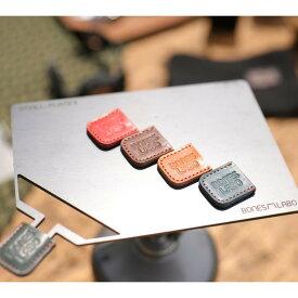 キャンプ ミニ鉄板 BONES-LABO ボーンズラボ SMALL-PLATEII スモールプレート2 グリルプレート 黒皮鉄 ソロキャンプ B6サイズ 栃木レザー